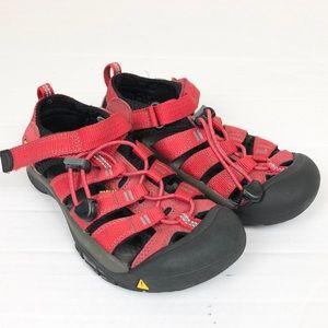 Keen red waterproof sandals size 2